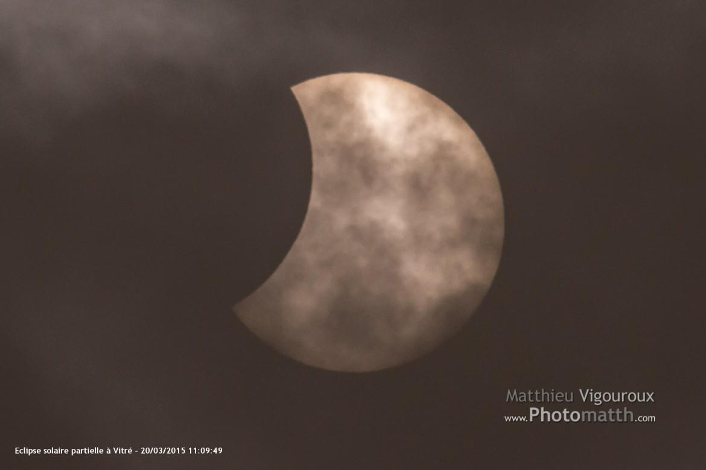 Actu | Eclipse solaire partielle du 20 mars 2015 sur Vitré